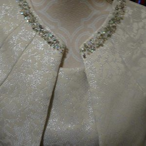 Champagne Gold 2-Piece Dress Suit-Size 14-NEW